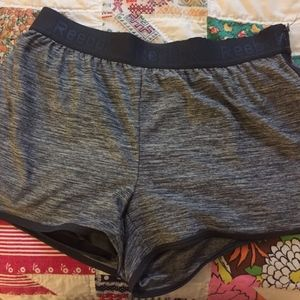 Reebok workout shorts with liner
